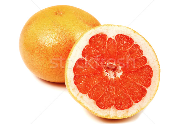 Grapefruit egész lédús szeletel fél izolált Stock fotó © fyletto