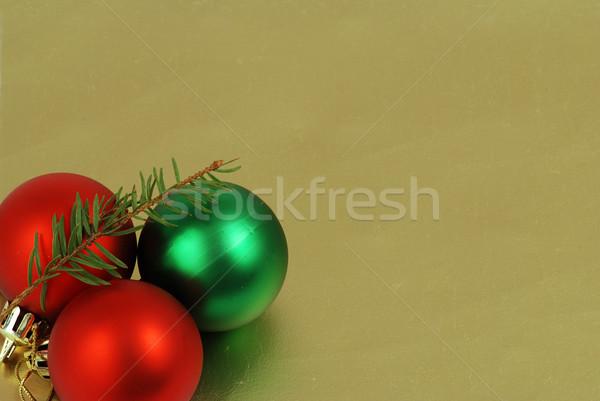 Christmas ball frame  Stock photo © fyletto