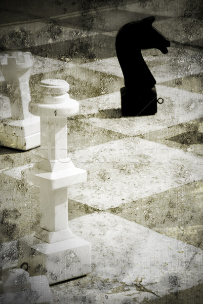 Spelen schaken schaakbord witte koning Stockfoto © fyletto