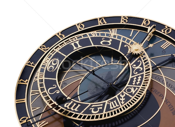 Detalle astronómico reloj aislado Praga República Checa Foto stock © fyletto