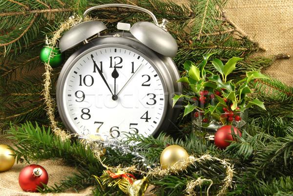 Рождества декоративный различный будильник зеленый Сток-фото © fyletto