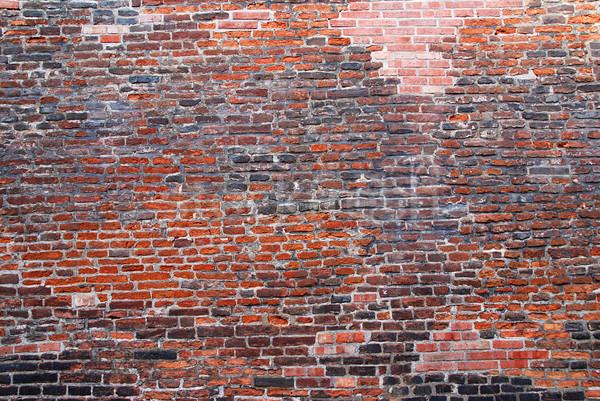 öreg téglafal jó építészet hátterek narancs Stock fotó © fyletto