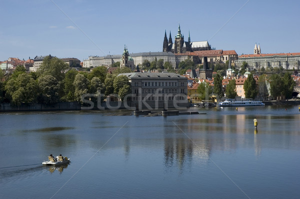 Tourists in Prague Stock photo © fyletto
