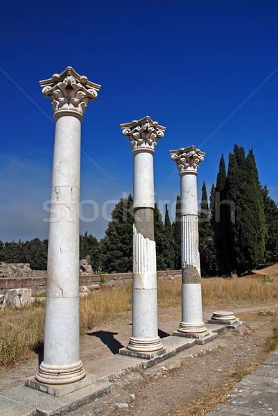 Greek ruins Stock photo © fyletto