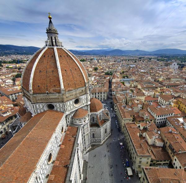 Mikulás Florence gyönyörű katedrális Olaszország égbolt Stock fotó © fyletto