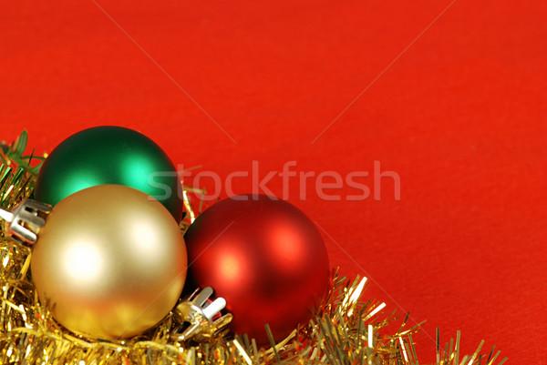 Рождества мяча кадр подробность три Сток-фото © fyletto