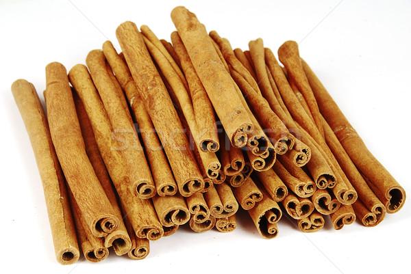 Canela grande picante árbol alimentos Foto stock © fyletto
