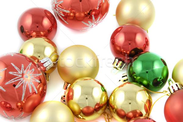 Рождества украшение изолированный белый мяча Сток-фото © fyletto