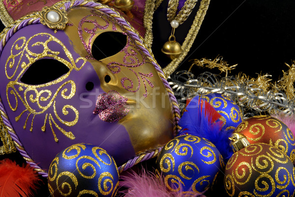 Mask and baubles Stock photo © fyletto