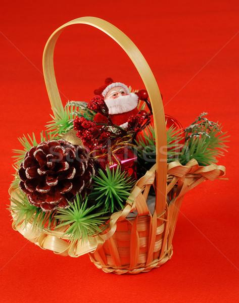 クリスマス バスケット 伝統的な 装飾 サンタクロース 松 ストックフォト © fyletto