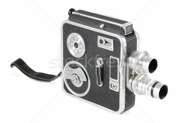 Bağbozumu video kamera eski 8mm yalıtılmış ev Stok fotoğraf © fyletto