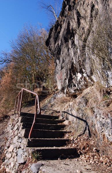 Rupe stair stretta percorso selvatico rock Foto d'archivio © fyletto