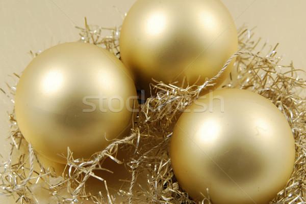 クリスマス 装飾的な リボン ボール ストックフォト © fyletto