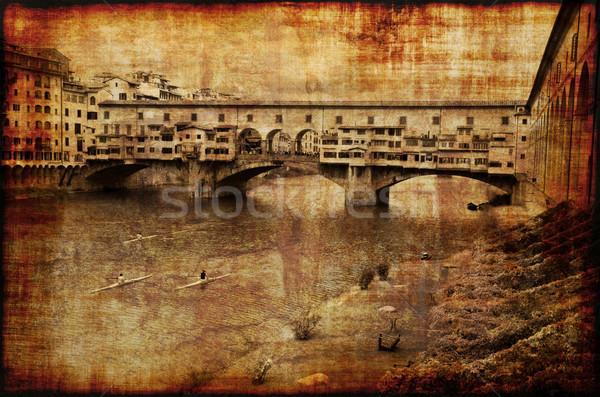 Memories of Ponte Vecchio  Stock photo © fyletto