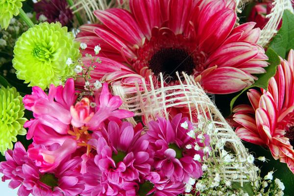 Virágok részlet gyönyörű virágcsokor friss húsvét Stock fotó © fyletto