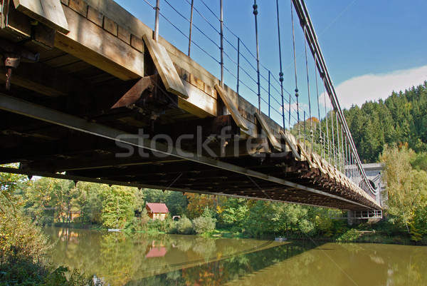 Chain bridge Stock photo © fyletto