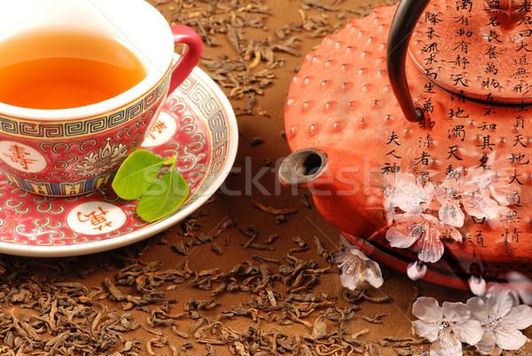 чай церемония специальный китайский чайник каллиграфия Сток-фото © fyletto