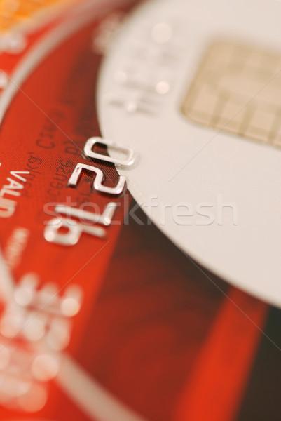 Tarjeta de crédito macro superficial negocios dinero Foto stock © fyletto