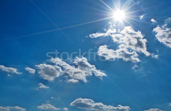 Ciel soleil lumineuses nuages texture été Photo stock © fyletto