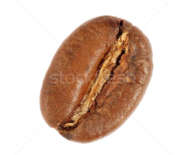 Kávébab makró frissen pörkölt izolált ital Stock fotó © fyletto