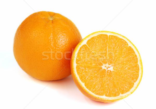 Oranje rijp vruchten geïsoleerd geheel Stockfoto © fyletto