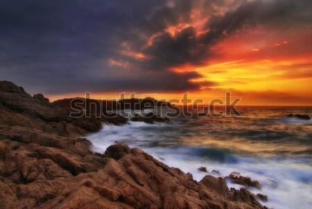 夢のような 日没 海 美しい シャープ ソフト ストックフォト © fyletto