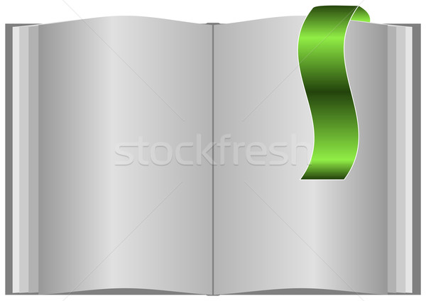 Blank open book with bookmark. Stock photo © Fyuriy