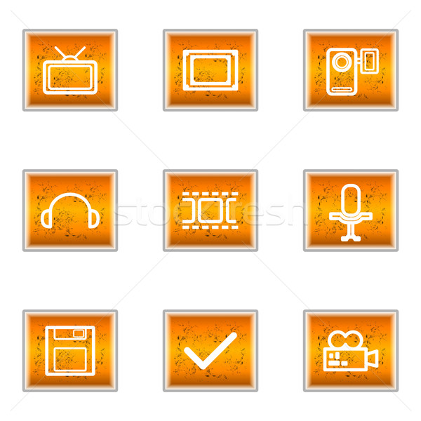 Glänzend Set Web-Icons 30 Business Stock foto © Fyuriy