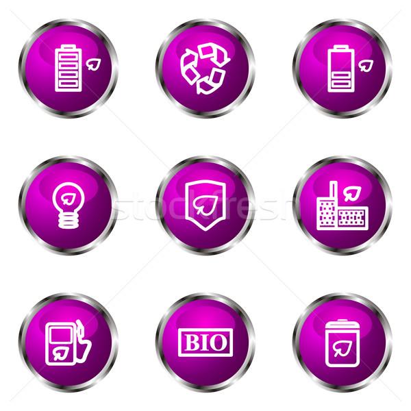 Сток-фото: набор · веб-иконы · 16 · фиолетовый