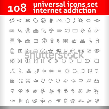 117 Universal Icons Set. Vector Collection Stock photo © Fyuriy