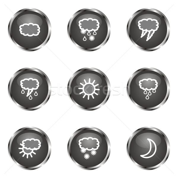 Establecer iconos de la web negro color Foto stock © Fyuriy