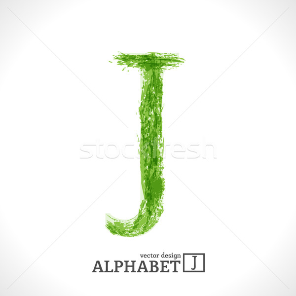 Grunge Vector Letter J Stock photo © Fyuriy