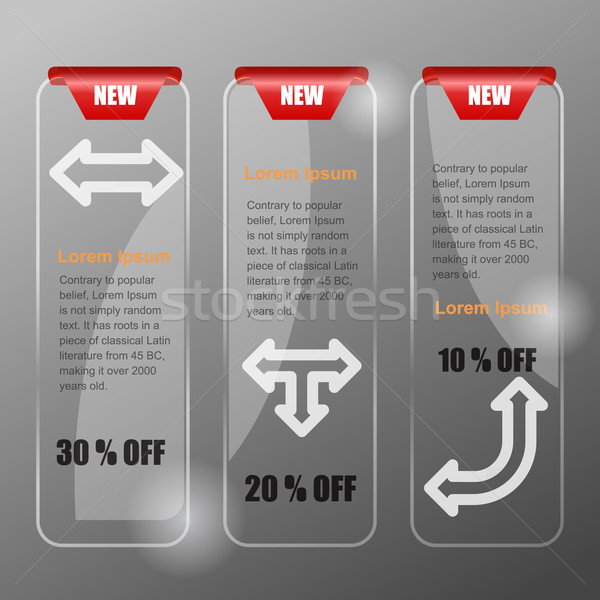 Vector banners for web. Glass style Stock photo © Fyuriy