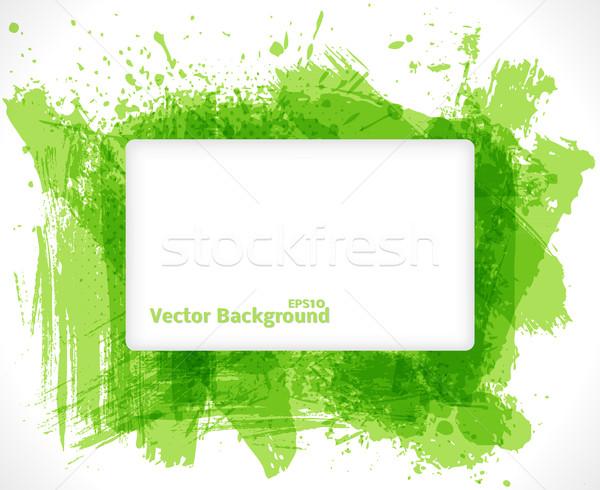 Abstract verde frame business testo carta Foto d'archivio © Fyuriy
