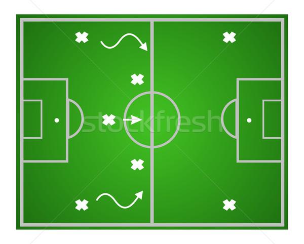 Lavoro di squadra strategia illustrazione calcio design Foto d'archivio © Fyuriy