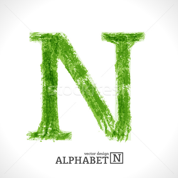 Grunge Vector Letter N Stock photo © Fyuriy