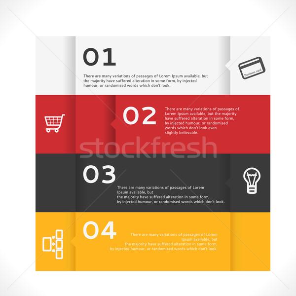 Vettore infografica banner moderno design business Foto d'archivio © Fyuriy