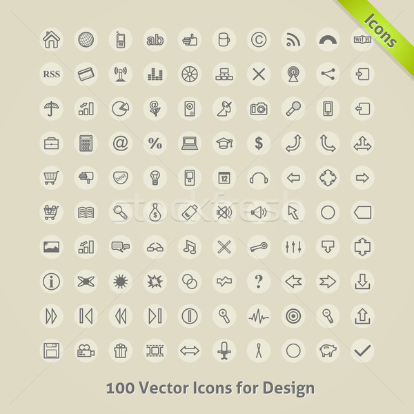 Vettore icone design computer ufficio casa Foto d'archivio © Fyuriy