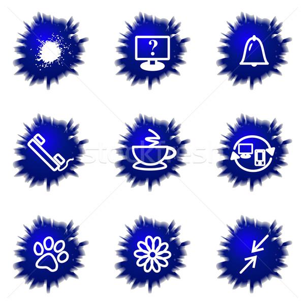 Сток-фото: набор · веб-иконы · 26 · цветок