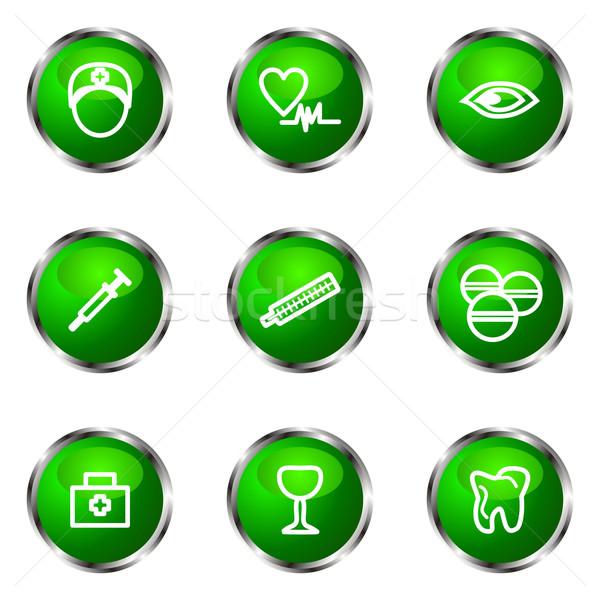 Establecer iconos de la web verde color Foto stock © Fyuriy
