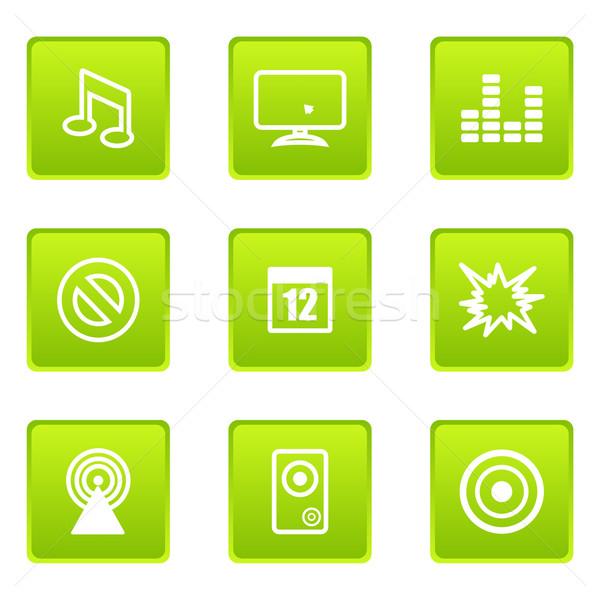 Glänzend Set Web-Icons Business Design Stock foto © Fyuriy