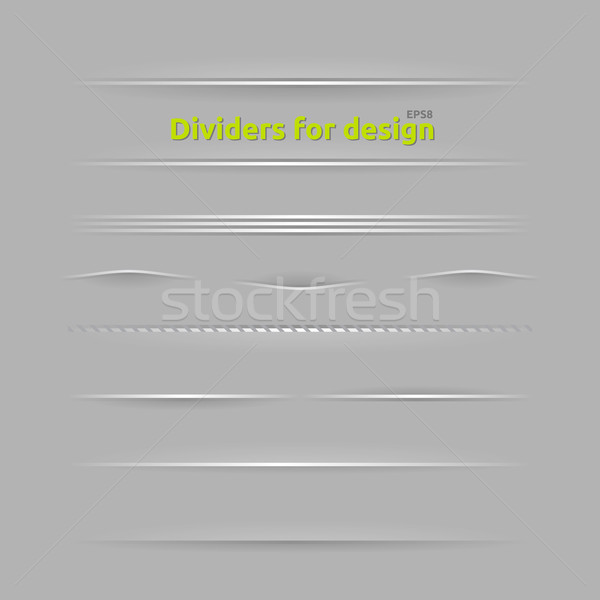 Dividers for design Stock photo © Fyuriy