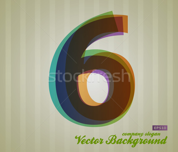 Color Transparency Number Stock photo © Fyuriy