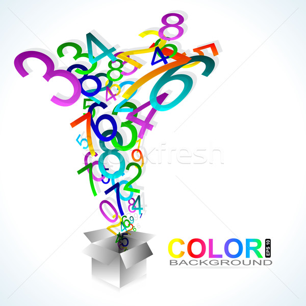 Color background. Numbers Stock photo © Fyuriy