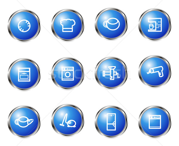 Glanzend ingesteld 12 web icons 20 Stockfoto © Fyuriy