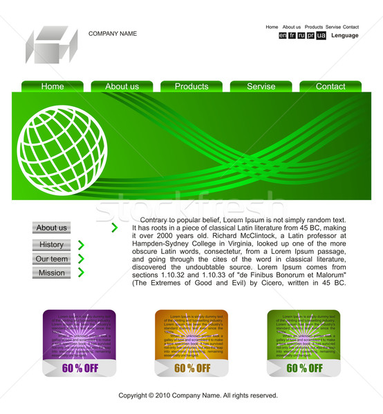 Site template Stock photo © Fyuriy