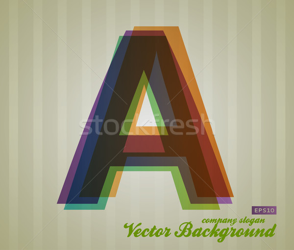 Color Transparency Letter Stock photo © Fyuriy