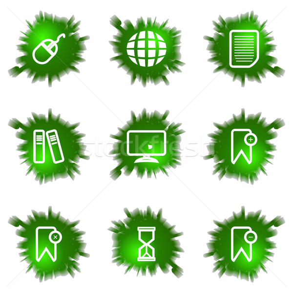 Icons set. Green hole Stock photo © Fyuriy