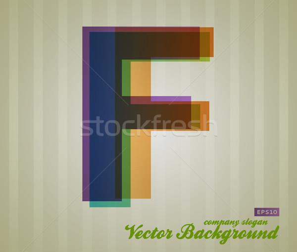 Renk şeffaflık mektup Retro simge iş Stok fotoğraf © Fyuriy