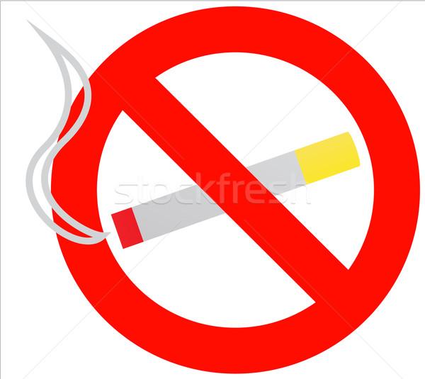 Vector illustration of 'no smoking' symbol Stock photo © Fyuriy